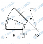Tawol products - elbows - drawing